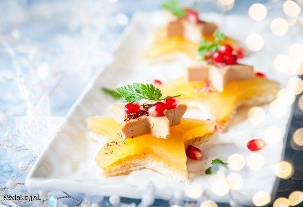 Sylwestrowa przekąska - mini kanapeczki gwiazdeczki z chleba tostowego