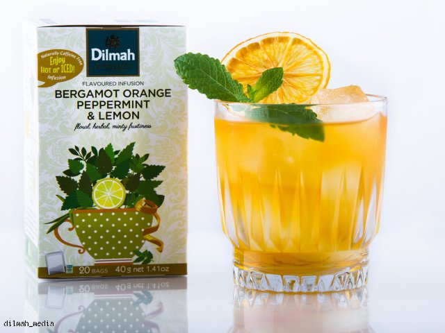 DILMAH MINT RUNNER - napój na bazie bergamotki, pomarańczy, mięty pieprzowej oraz cytryny