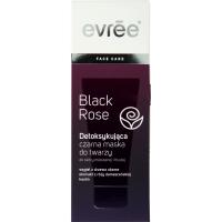 Evree, Black Rose, Detoksykująca czarna maska do twarzy skóra mieszana i tłusta