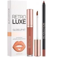 Revolution Beauty (Makeup Revolution), Retro Luxe, Gloss Lip Kit (Połyskujący zestaw błyszczyk i konturówka)