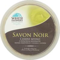 White Flower`s Experience, Savon Noir, Czarne mydło z dodatkiem minerałów z Morza Martwego i olejem z oliwek