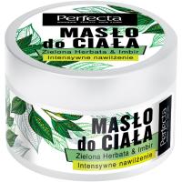 Perfecta, Intensywnie nawilżające masło do ciała `Zielona herbata & imbir`