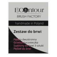 ECOntour Brush Factory, Zestaw do brwi