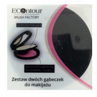ECOntour Brush Factory, Zestaw dwóch gąbeczek do makijażu