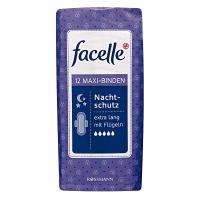Facelle, Maxi-Binden Nacht-schutz Extra Lang mit Flugeln (Podpaski higieniczne na noc ze skrzydełkami)