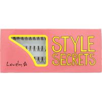 Lovely, Style Secrets, Czarne kępki do rzęs w 3 długościach