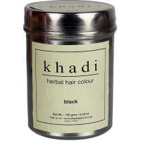 Khadi, Herbal Hair Colour, Black (Ziołowa farba do koloryzacji włosów nadająca ciepły czarny kolor)