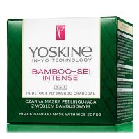 Yoskine, Bamboo-Sei Intense, Czarna maska peelingująca z węglem bambusowym  3 in 1