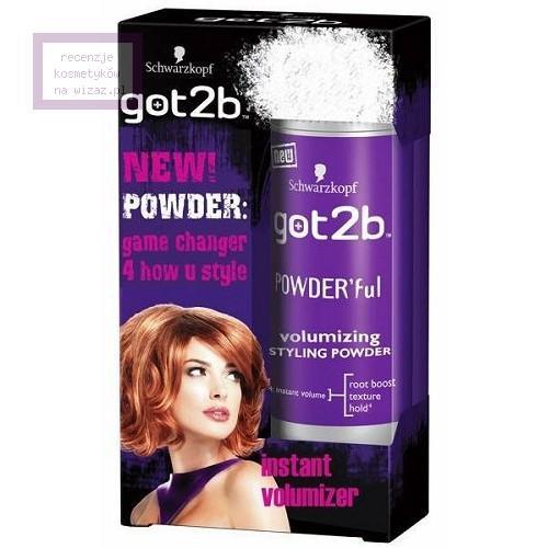 Schwarzkopf Got2b, Powder'ful, Volumizing Styling Powder (Puder unoszący włosy u nasady)