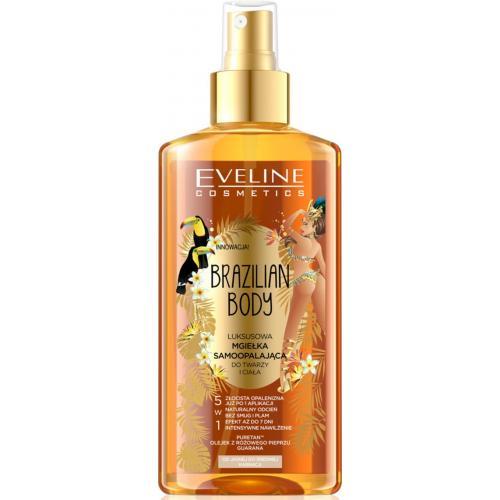 Eveline, Brazilian Body, Luksusowa mgiełka samoopoalająca 5 w 1 jasna i średnia karnacja