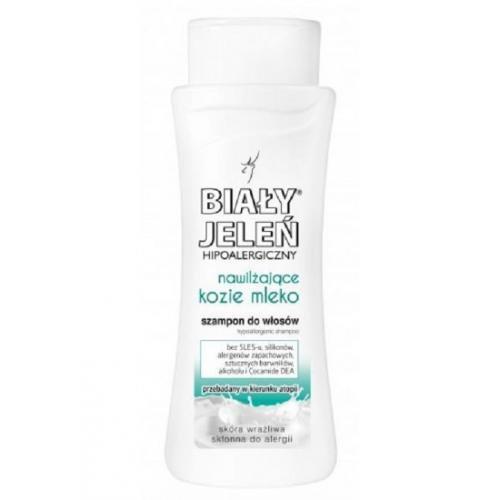 Biały Jeleń, Hipoalergiczny szampon do włosów `Nawilżające kozie mleko`
