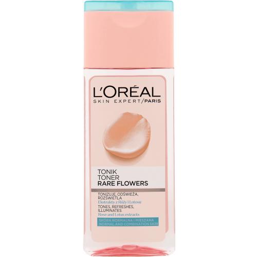 L`Oreal Paris, Skin Expert, Rare Flowers, Toner (Tonik oczyszczający z ekstraktami z róży oraz lotosu skóra normalna i mieszana)