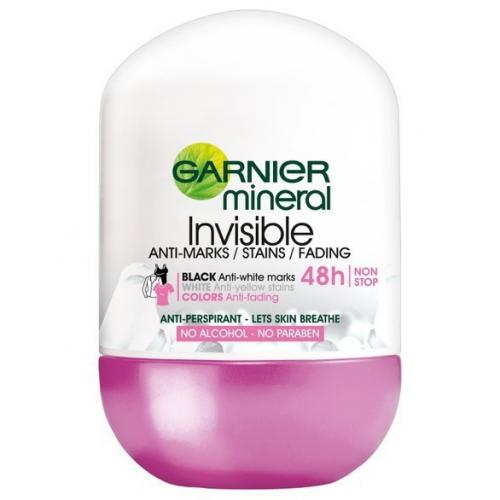 Garnier, Mineral Deodorant, Invisible 48h Anti - Marks Roll - On (Antyperspirant przeciw plamom w kulce (nowa wersja))