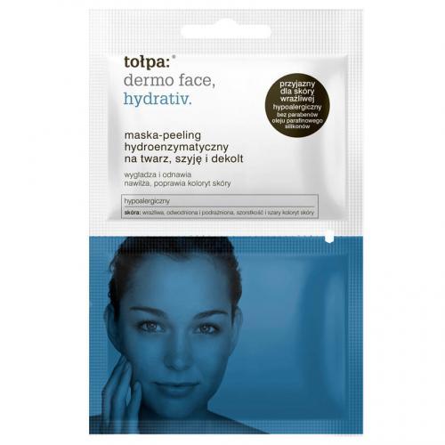 Tołpa, Dermo Face, Hydrativ, Maska - peeling hydroenzymatyczny na twarz, szyję i dekolt (stara wersja)