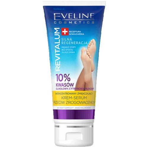 Eveline, Revitalum, Skoncentrowany zmiękczający krem- serum przeciw zrogowaceniom 10% kwasów