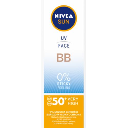 Nivea, Sun, BB Krem do twarzy z fitrami UV SPF 50+