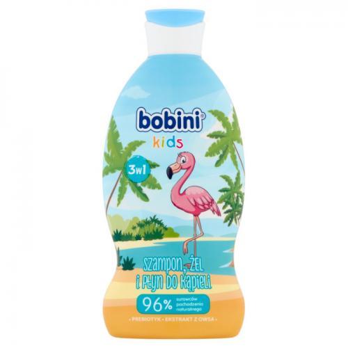 Bobini, Kids, Żel o mycia ciała i płyn do kąpieli 2 w 1 `Prebiotyk + ekstrakt z owsa` (różne rodzaje)