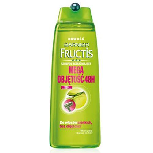 Garnier, Fructis, Mega Objętość 48H, Szampon wzmacniający do włosów cienkich i bez objętości