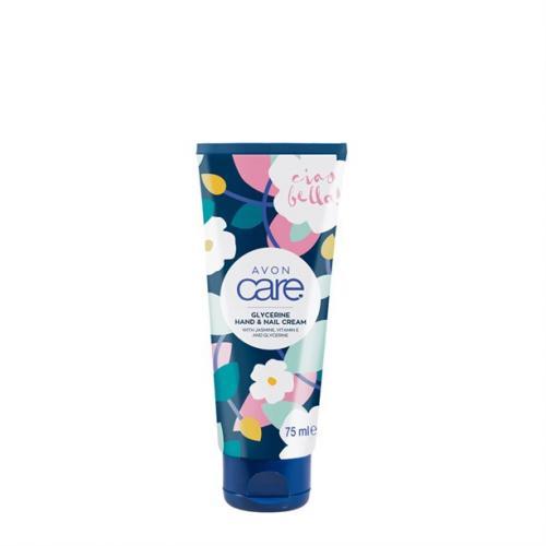 Avon, Care, Glycerine Hand & Nail Cream with Jasmine, Vitamin E and Glycerine (Glicerynowy krem  do rąk  i paznokci z jaśminem i witaminą E [Wygładzający krem do rąk o zapachu jaśminu])