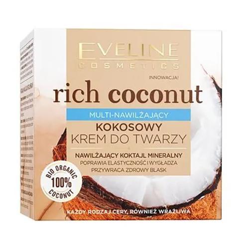 Eveline, Rich Coconut, Multi-nawilżający kokosowy krem do twarzy