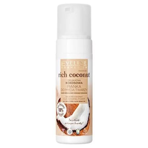 Eveline, Rich Coconut, Delikatna kokosowa pianka do mycia twarzy