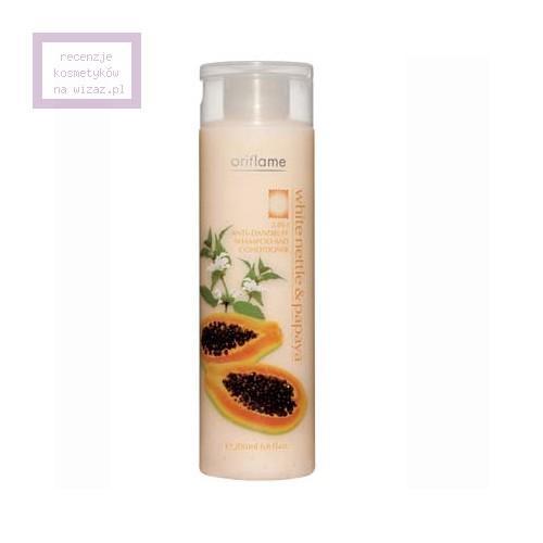 Oriflame, Nature, Hair Care, White Nettle & Papaya, 2 in 1 Anti - Dandruff Shampoo and Conditioner (Przeciwłupieżowy szampon z odżywką 2 w 1)