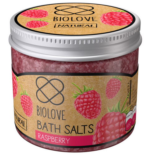 Biolove, Raspberry, Bath Salts (Sól do kąpieli `Malina`)