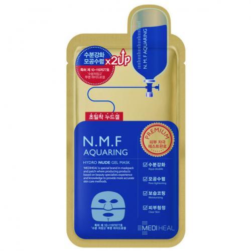 Mediheal, N.M.F Aquaring, Hydro Nude Gel Mask (Maska żelowa  do twarzy nawilżająco-wygładzająca)