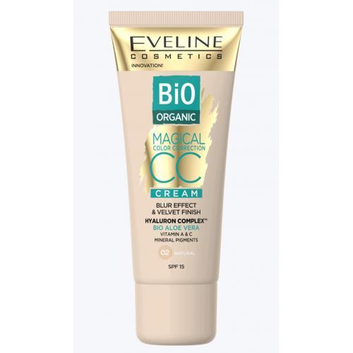 Eveline, Bio Organic Magical Color Correction CC Cream (Krem CC do twarzy SPF 15)