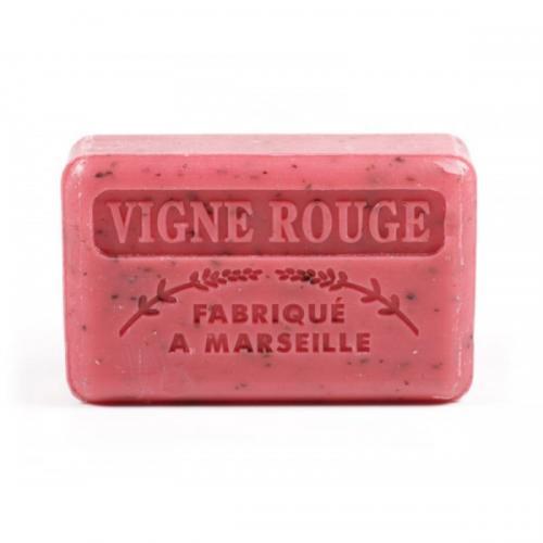 Fabrique a Marseille, Vigne Rouge Savon de Marseille (Mydło marsylskie z masłem Shea ze zmielonymi pestkami winogron do peelingu `Czerwona winorośl`)