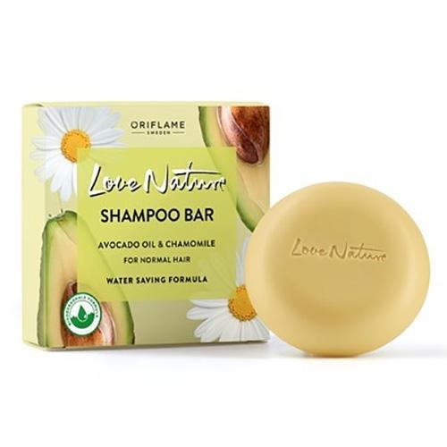 Oriflame, Love Nature, Shampoo Bar Avocado Oil & Chamomile (Szampon do włosów w kostce z olejkiem z awokado i rumiankiem)
