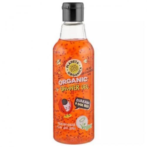 Planeta Organica, Skin Superfood, Natural Shower Gel Toning Organic Guarana & Basil Seeds (Żel pod prysznic)