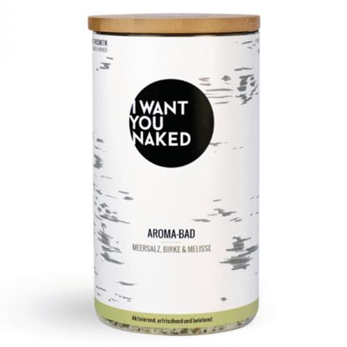 I Want You Naked, Aroma-Bad Meersalz Birke & Melisse (Aromatyczna sól do kąpieli `Brzoza i melisa`)