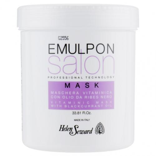 Helen Seward, Emulpon Salon, Vitaminic Mask with Black Currant Oil (Witaminowa maska z olejkami owocowymi do włosów po zabiegach fryzjerskich)