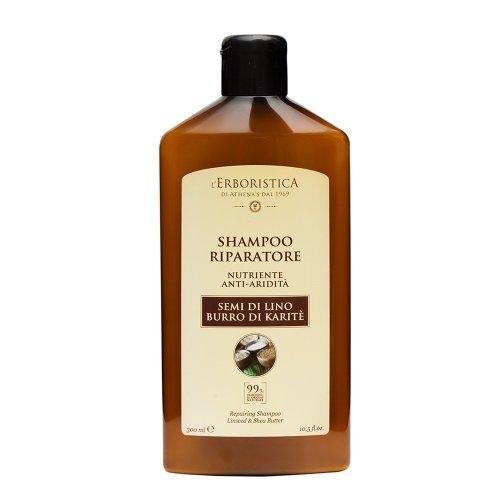 Athena`s l`Erboristica, Shampoo Riparatore Semi Di Lino Burro Di Karite (Szampon z siemieniem lnianym i karite)