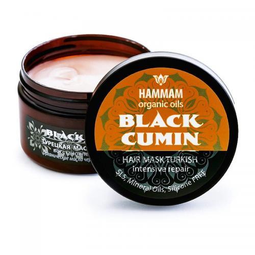 Hammam Organic Oils, Black Cumin Hair Mask Turkish Intensive Repair (Turecka maska do włosów `Regeneracja i blask`)