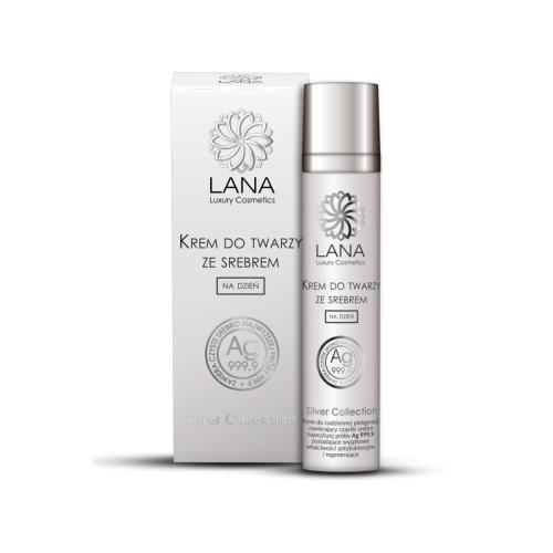 Lana Luxury Cosmetics, Silver Collection, Regenerujący krem wygładzający na dzień ze srebrem