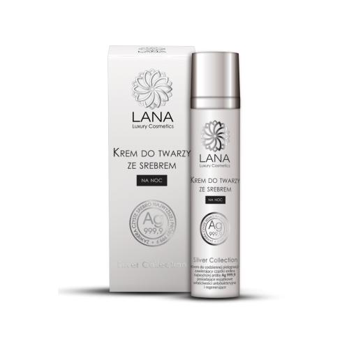 Lana Luxury Cosmetics, Silver Collection, Regenerujący krem na noc ze srebrem