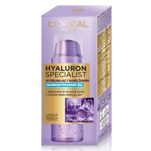 L`Oreal Paris, Hyaluron Specialist, Concentrated Jelly (Skoncentrowany żel)