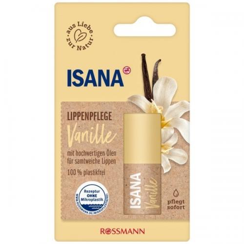 Isana, Lippenpflege Vanille (Waniliowa pomadka ochronna do ust)