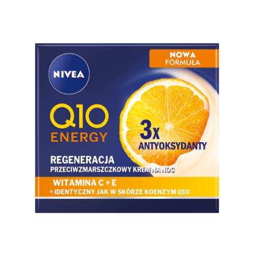 Nivea, Q10 Energy Regeneracja, Przeciwzmarszczkowy krem na noc