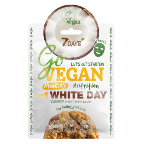 Vilenta, 7 Days, Go Vegan Nutrition White Day Mask (Maseczka do twarzy `Olej owsiany`)