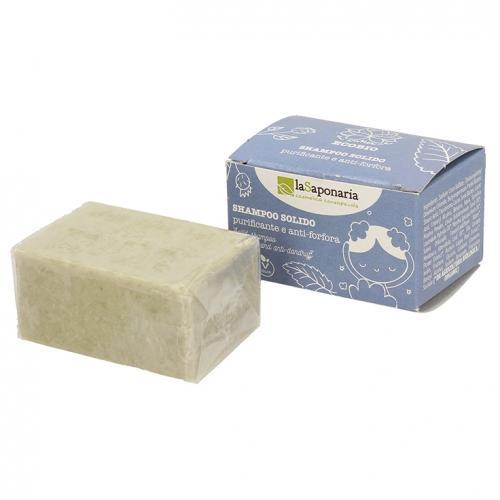 La Saponaria, Shampoo Solido Purezza Purificante e Anti-Forfora (Przeciwłupieżowy szampon w kostce)
