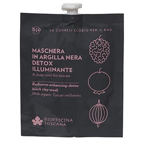 Biofficina Toscana, Maschera in Argilla Nera Detox-Illuminante (Czarna glinka rozjaśniająca - maska detox)