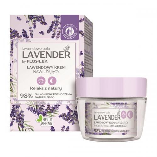 Floslek, Lavender Lawendowe Pola by Floslek,, Lawendowy krem nawilżający