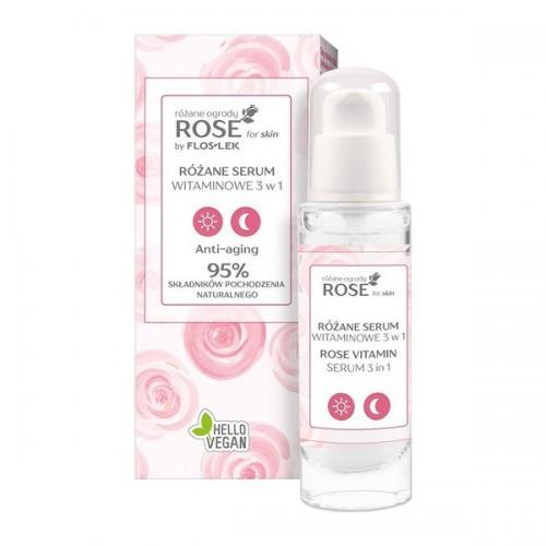 Floslek, Rose For Skin by Floslek, Różane serum witaminowe 3 w 1