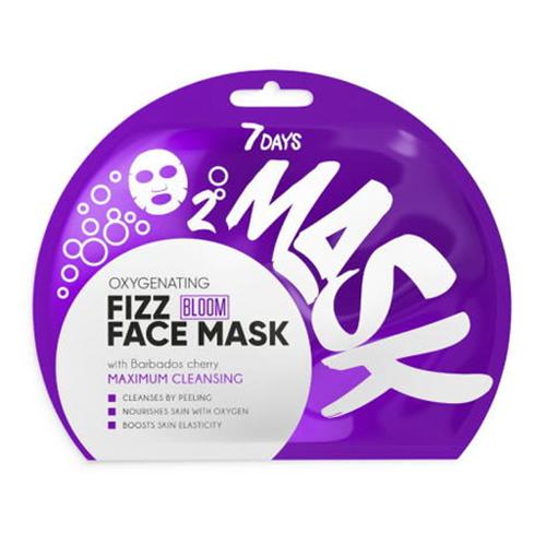Vilenta, 7 Days, Oxygenating Fizz Face Mask (Maseczka do twarzy `Wiśnia z Barbados`)