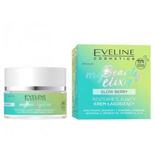 Eveline, My Beauty Elixir Glow Berry, Rozświetlający krem łagodzący