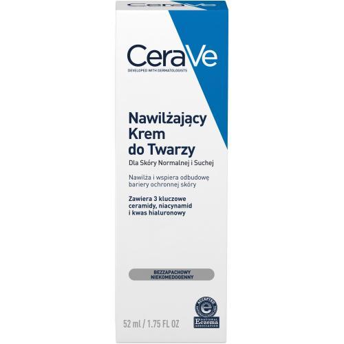 CeraVe, Nawilżający krem do twarzy dla skóry normalnej i suchej