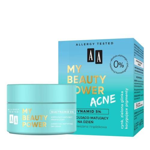 AA, My Beauty Power Acne, Korygująco-matujący krem na dzień `Niacynamid 5%`